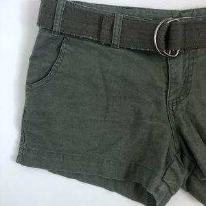 Army Green Cargo Shorts